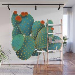 Prickly Pear Cactus Wall Mural