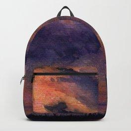 Sunset on Harbor Island Backpack