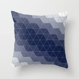 Navy Blue Triangles Minimal Deko-Kissen