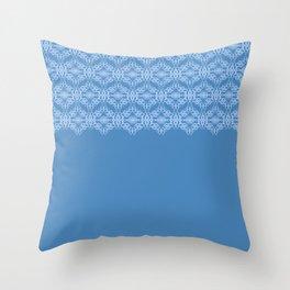 Blue Weaves Pattern Throw Pillow