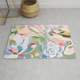 summer succulents Rug