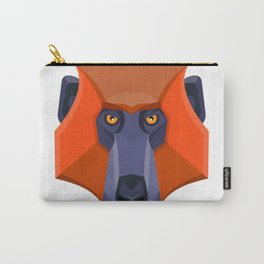 Baboon Head Flat Icon Carry-All Pouch