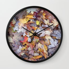 leaf litter menagerie Wall Clock