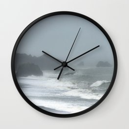 Pacific Northwest Beach Storm Wall Clock