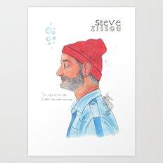 Steve Zissou Art Print