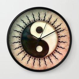 Yin Yang - Sun I Wall Clock