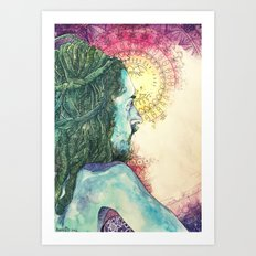 Inhale, Exhale. Introspect Art Print