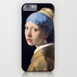 Girl with a Pearl Earring, 1665 iPhone Case