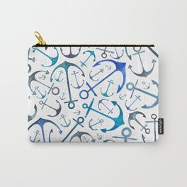Nautical Watercolour Anchors Carry-All Pouch