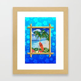Beach Christmas Framed Art Print
