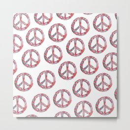 Far Too Pretty Peace Symbols Metal Print