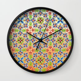 Decorative Tangerine Gothic Wall Clock