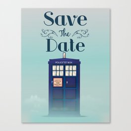 Save the Date British Police Box Canvas Print