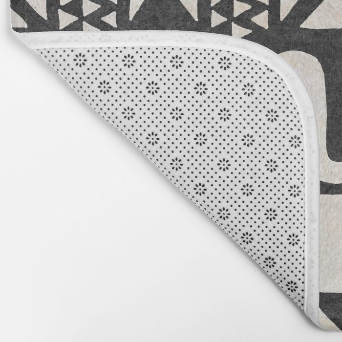 African Shapes - Black Bath Mat