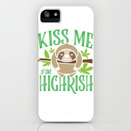 Sloth Weed Cannabis St. Patrick's Day Gift iPhone Case