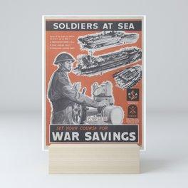 Reprint of British wartime poster. Mini Art Print