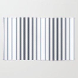 Dark Sargasso Blue Mattress Ticking Wide Striped Pattern - Fall Fashion 2018 Rug