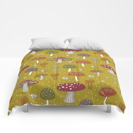 Funghi - Gold Comforters