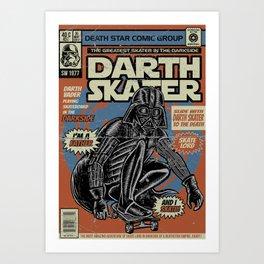 Darth Skater The Skate Lord Art Print