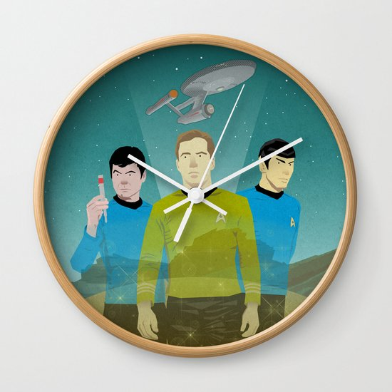 The Enterprise Trio  Wall Clock