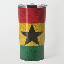 Old and Worn Distressed Vintage Flag of Ghana Travel Mug