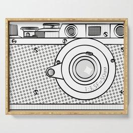 retro camera illustration, vintage photo camera graphic print Serving Tray