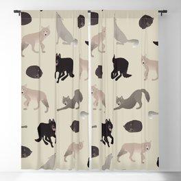 wolves Blackout Curtain