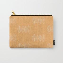 Orange Leaf Pattern Carry-All Pouch