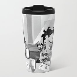 Retro Diner with Betty Boop and Felix the Cat Travel Mug