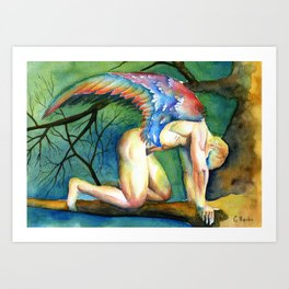 """Fallen angel"" Art Print"