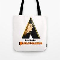 ultraviolence Tote Bags featuring ULTRAVIOLENCE by ELIAOKO