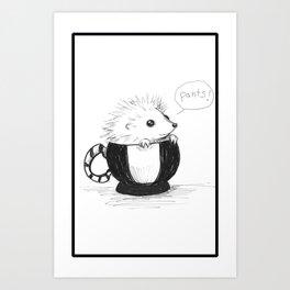 Pants the Hedgehog Art Print