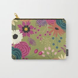 Verde Floral Carry-All Pouch