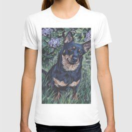 Lancashire Heeler dog art portrait from an original painting by L.A.Shepard T-shirt