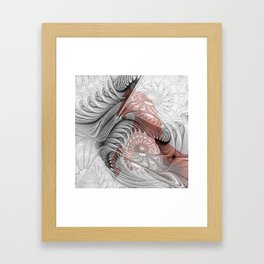 behind the fractal -b- Framed Art Print