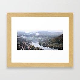 Elbe valley from Mlynaruv kamen prospect Framed Art Print