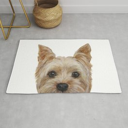 Yorkshire Terrier original painting print Rug