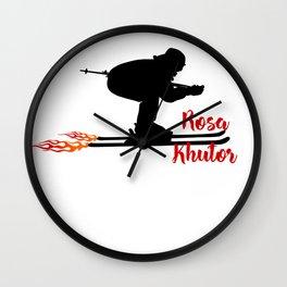 Ski speeding at Rosa Khutor Wall Clock