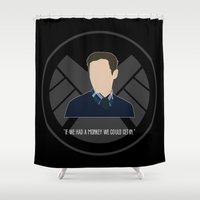 agents of shield Shower Curtains featuring Agents of S.H.I.E.L.D. - Fitz by MacGuffin Designs