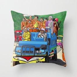 TRUCKIN' MONKS Throw Pillow
