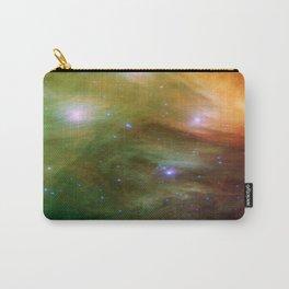 Galaxy : Pleiades Star Cluster neBuLa Green Orange Carry-All Pouch