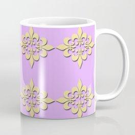 Fleur de lis ...purple and gold Coffee Mug