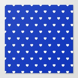 HEARTS ((white on azure)) Canvas Print