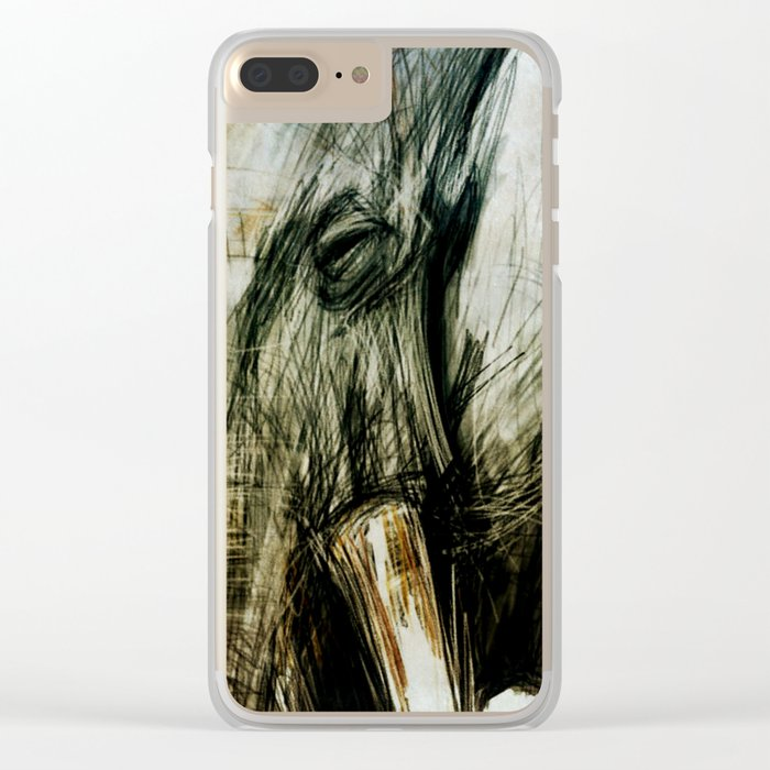 African Elephant Clear iPhone Case