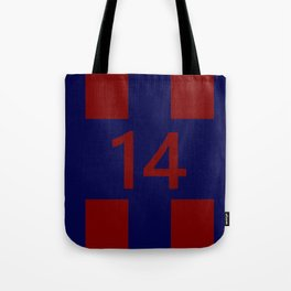 Legendary No. 14 in red and blue Tote Bag