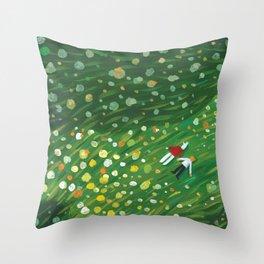 Flower Floor 001 Throw Pillow