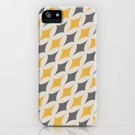 Diamonds in Grey & Yellow iPhone Case