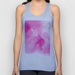 Hand painted magenta pink modern watercolor Unisex Tank Top