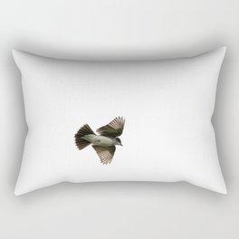 Eastern Kingbird in Flight Rectangular Pillow