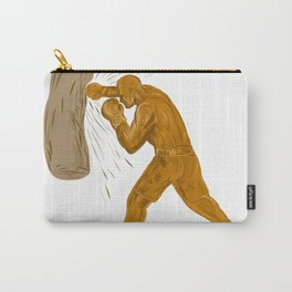 Boxer Punching Bag Drawing Carry-All Pouch